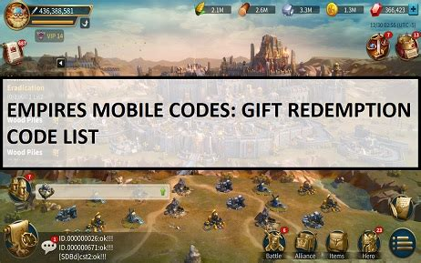 Empires Mobile Codes: NEW Gift Redemption Code March 2021 ...