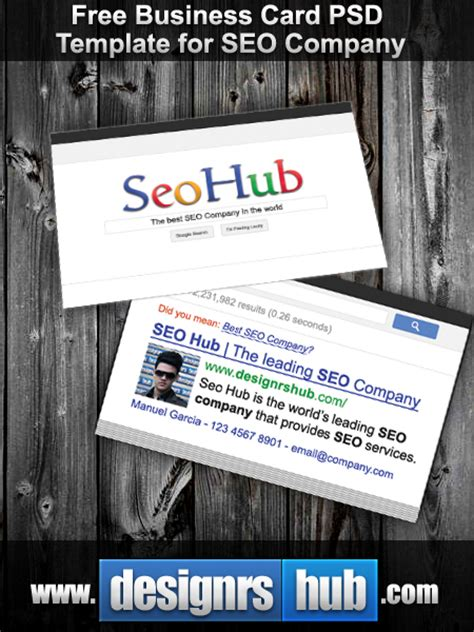 Seo Business - 40 best free business card templates in psd file format
