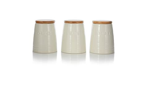 ceramic kitchen storage jars george home tea coffee and sugar ceramic jar set 5185