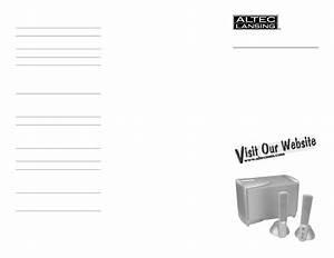 Altec Lansing Speaker Atp3 User Guide