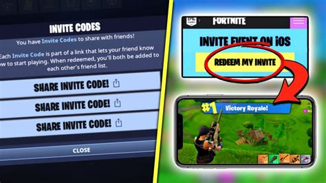 fortnite mobile   codes share  youtube