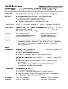 objective for electrical engineering internship resume objective for internship in resume resume template exle