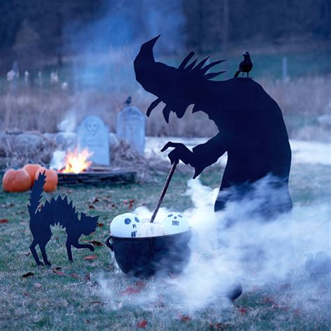 Halloween Witch Yard Stakes by Awesome Diy Outdoor Halloween Decoration Ideas