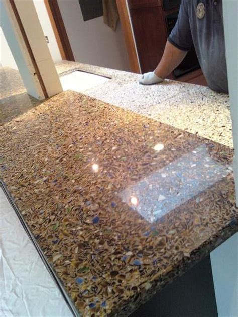 recycled glass countertop how to beautify your kitchen with recycled glass
