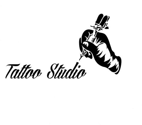 tattoo salon wall window decoration tattoo machine vinyl