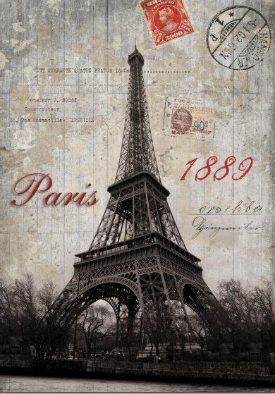 retro paris eiffel tower photography backdrops postage