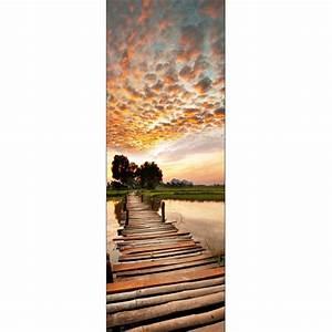 Papier Peint Sticker : papier peint porte d co ponton art d co stickers ~ Premium-room.com Idées de Décoration