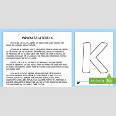 Litera K Poveste  Poveste, Povești, Povestea Literei K, Alfabet, Litere