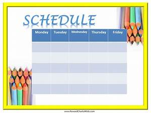weekly schedule template With weekly schedule template for kids