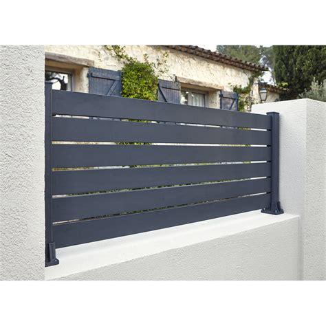 magasin accessoire cuisine lisse de clôture aluminium klosup naterial gris zingué h