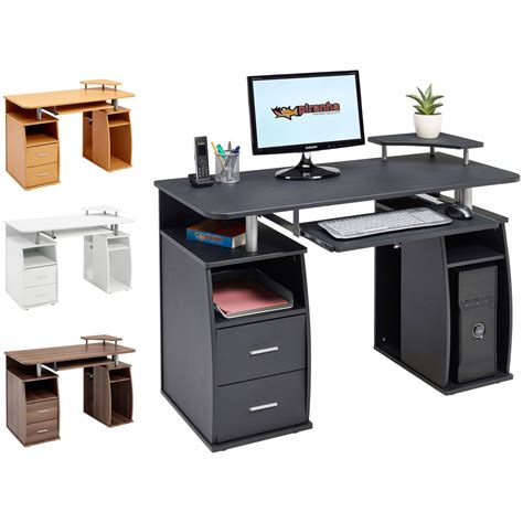 Computer Desk With Shelves Cupboard & Drawers For Home. Tall Table With Drawers. High Table And Chair Set. Kitchenaid Single Drawer Dishwasher. Writing Desk Wood. Accent Desk Chair. His And Hers Desk. Bestar Connexion L Shaped Desk. Metal Drawer Cabinet Storage