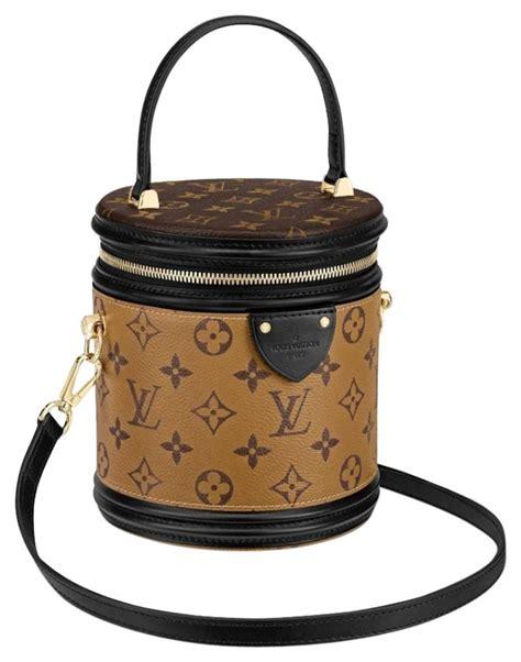 louis vuitton bucket box monogram reverse logo lv logo hat handle vanity brown canvas cross body