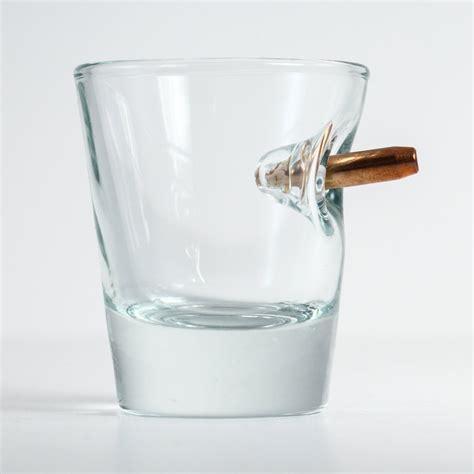 Cool Product Alert Benshot Bullet Embedded Glasses by Cool Product Alert Benshot Bullet Rocks Glass