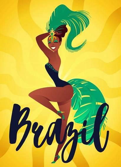 Carnival Rio Samba Janeiro Brazilian Dancers Posters