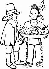 Coloring Pilgrim Sheets Pilgrims Thanksgiving Pages Indians Printable Indian Pilgram Printables Worksheet Feast Native American Thankful Thanks sketch template