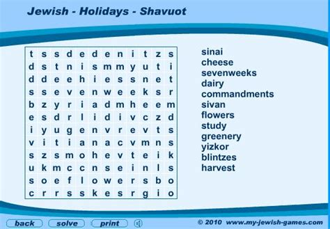 educational resources  shavuot