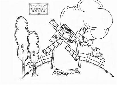 Windmill Embroidery Patterns Dutch Pattern Printable Hand
