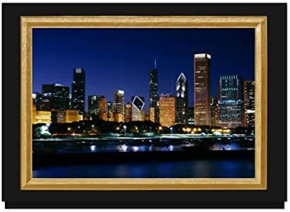 amazoncom chicago downtown christmas card  premium