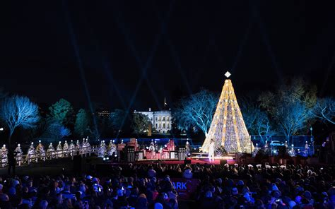 visiting national christmas tree at night in washington dc what to do travel leisure
