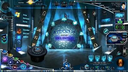Atlantis Stargate Desktop Interactive Interface Splinter Deviantart