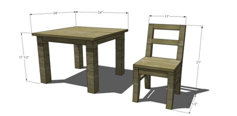 diy furniture plans  build  pottery barn kids inspired   table  chairs