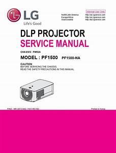 Lg Pf1500 Orignal Service And Repair Manual  Service