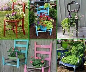 Pinterest Bricolage Jardin : transformez vos vieilles chaises en d coration fleurie ~ Melissatoandfro.com Idées de Décoration