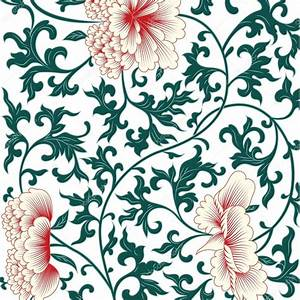 Flower background in chinese style. Vector illustrator ...