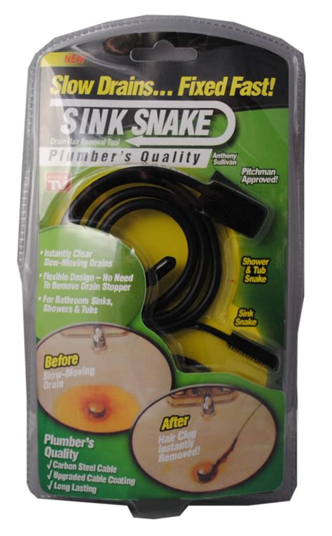 sink clog remover sink snake drain hair removal clog tool as seen on tv ebay