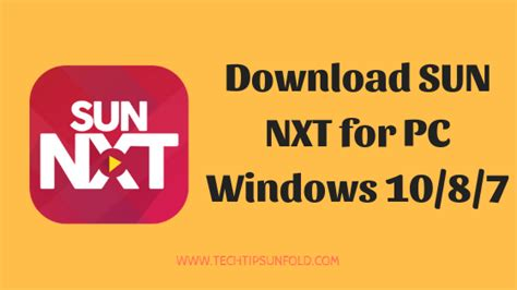 sun nxt app for pc windows 10 8 7 official