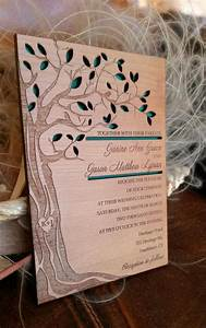 tree wedding invitation wood wedding invitation With wedding invitation tree wood laser cut