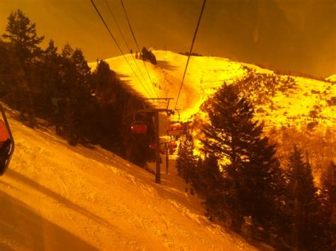 heated chair lift at canyons ski resort utah