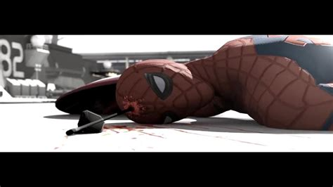 spoiler alert civil war spiderman killed  hawkeye