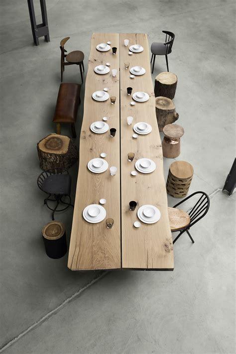 Holztisch Mit Stühlen by Langer Holztisch Mit Holzst 228 Mmen Als Hocker Und