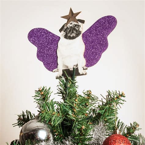 pug christmas tree pug tree topper buy at firebox