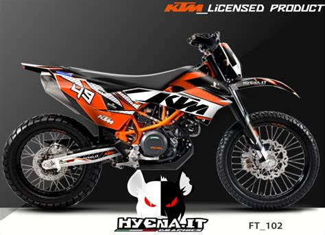 graphics in already realized 2014 ktm 690 enduro but you can edit and create any