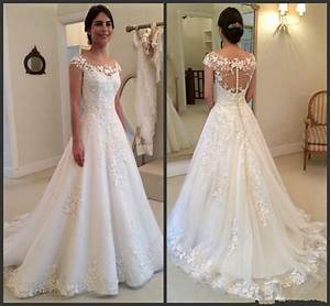 New white ivory ball gown wedding dresses bridal gowns for Ebay wedding dresses size 18