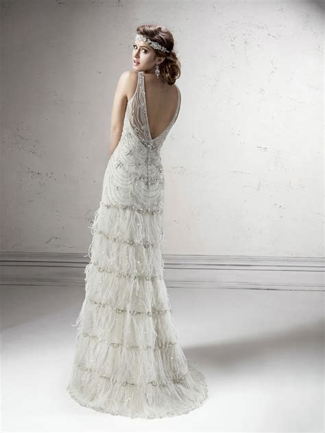 Gatsby Wedding Gown   Sottero   Midgley   Deco Shop