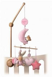 Mobile Musical Pour Bébé : kaloo mobile musical plume rose doudouplanet ~ Teatrodelosmanantiales.com Idées de Décoration