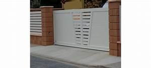 Portail Bois 4m : portail coulissant 4m blanc ~ Premium-room.com Idées de Décoration