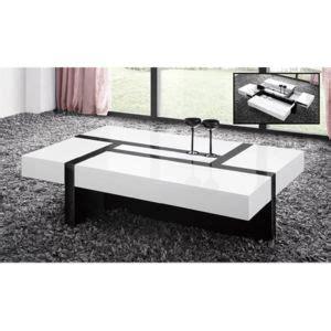 table basse noir et blanc achat vente table basse noir et blanc pas cher rue du commerce