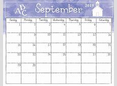 Watercolor Monthly 2019 Calendar Latest Calendar
