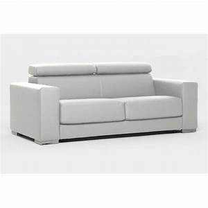 canape convertible expresso simili cuir blanc achat With canapé simili cuir blanc convertible