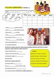 yellow submarine worksheet - Free ESL printable worksheets ...
