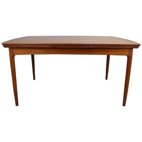 dining table with built in leaf rare hans wegner teak dining table with two built in
