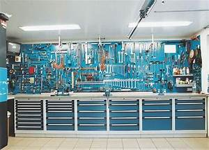 Blue work bench and tool storage Ultimate Garage