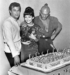 Christine Kaufmann with Tony Curtis and Yul Brynner, 1962 ...