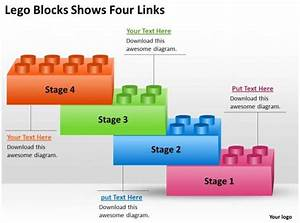 Risk Management Consulting Lego Blocks Shows Four Links Powerpoint Templates Ppt Backgrounds For