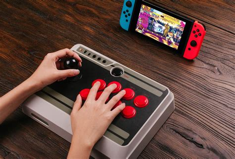 arcade stick controller 8bitdo switch nintendo nes30 n30 pre orders button fighting games ships later month open using