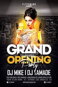 Grand opening party flyer template freebie free party club dj flyermind flyer design for Nightclub flyer templates